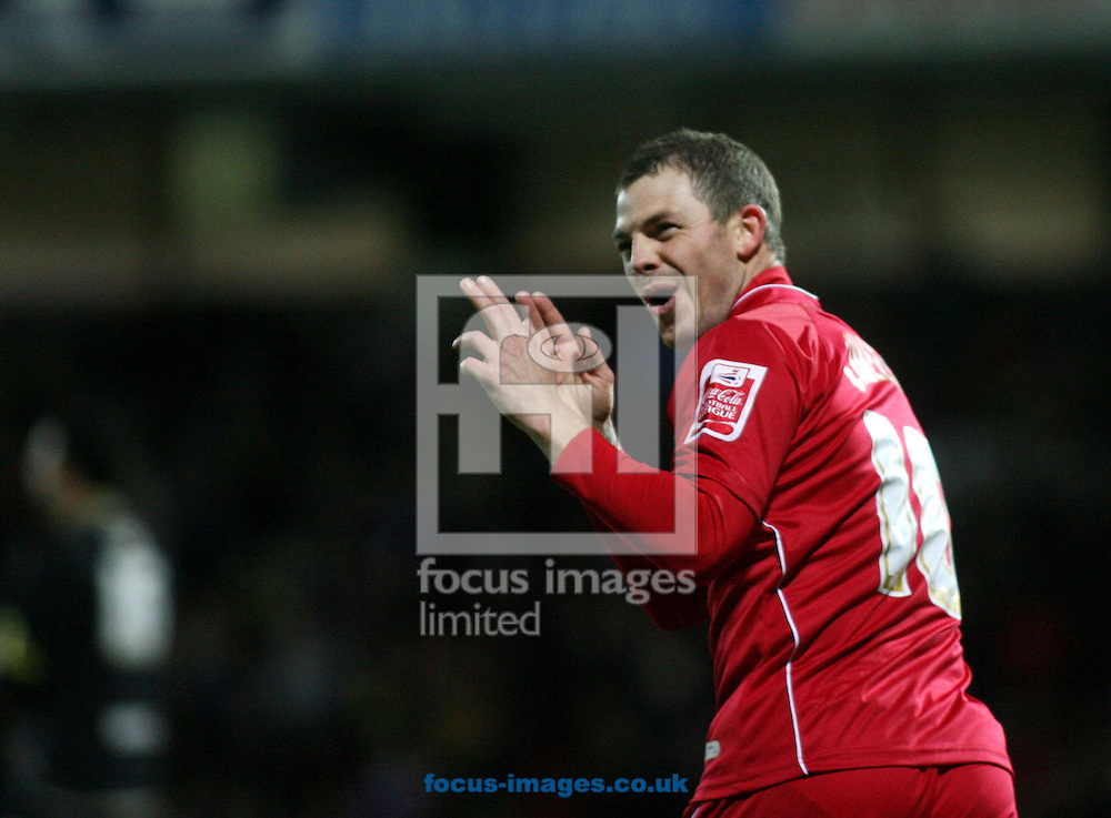 London - Tuesday, March 4th, 2008: Jamie Cureton of Norwich City celebrates his equalising goal against Watford during the Coca Cola Champrionship match at Vicarage Road, London. (Pic by Chris Ratcliffe/Focus Images)