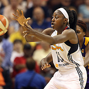 Chiney Ogwumike, Connecticut Sun in action during the Connecticut Sun Vs Los Angeles Sparks WNBA regular season game at Mohegan Sun Arena, Uncasville, Connecticut, USA. 3rd July 2014. Photo Tim Clayton