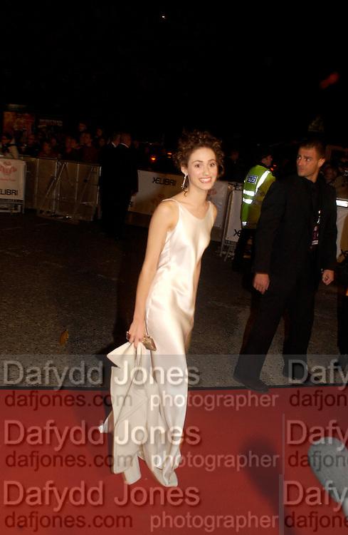 Emmy Rossum, Fashion Rocks in aid of the Princes trust, royal albert Hall, 15  october 2003.   © Copyright Photograph by Dafydd Jones 66 Stockwell Park Rd. London SW9 0DA Tel 020 7733 0108 www.dafjones.com