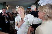 COURTNEY LOVE; COUNTESS OF MARCH,  IN THE DUKE OF RICHMOND BOX; Glorious Goodwood. Ladies Day. 28 July 2011. <br /> <br />  , -DO NOT ARCHIVE-© Copyright Photograph by Dafydd Jones. 248 Clapham Rd. London SW9 0PZ. Tel 0207 820 0771. www.dafjones.com.