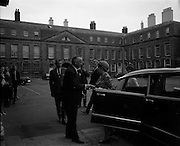 19/06/1969<br /> 06/19/1969<br /> 19 June 1969<br /> General Charles de Gaulle leaves Dublin Castle for Dublin Airport at the end of their Irish holiday, after having had lunch with Taoiseach Jack Lynch. Picture shows Madame de Gaulle being escorted to the car that would take her to the airport.