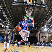 Delaware 87ers Guard NATE ROBINSON (1) dunks during warm up prior an NBA D-league regular season game between the Delaware 87ers and the Maine Red Claws ( Boston Celtics) Tuesday, Feb. 14, 2017, at The Bob Carpenter Sports Convocation Center in Newark, DEL