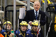 21 November 2009:  Michigan Coach  Red Berenson during the NCCA hockey game between Michigan and the Bowling Green State University at Lucas County Arena in Toledo, Ohio.