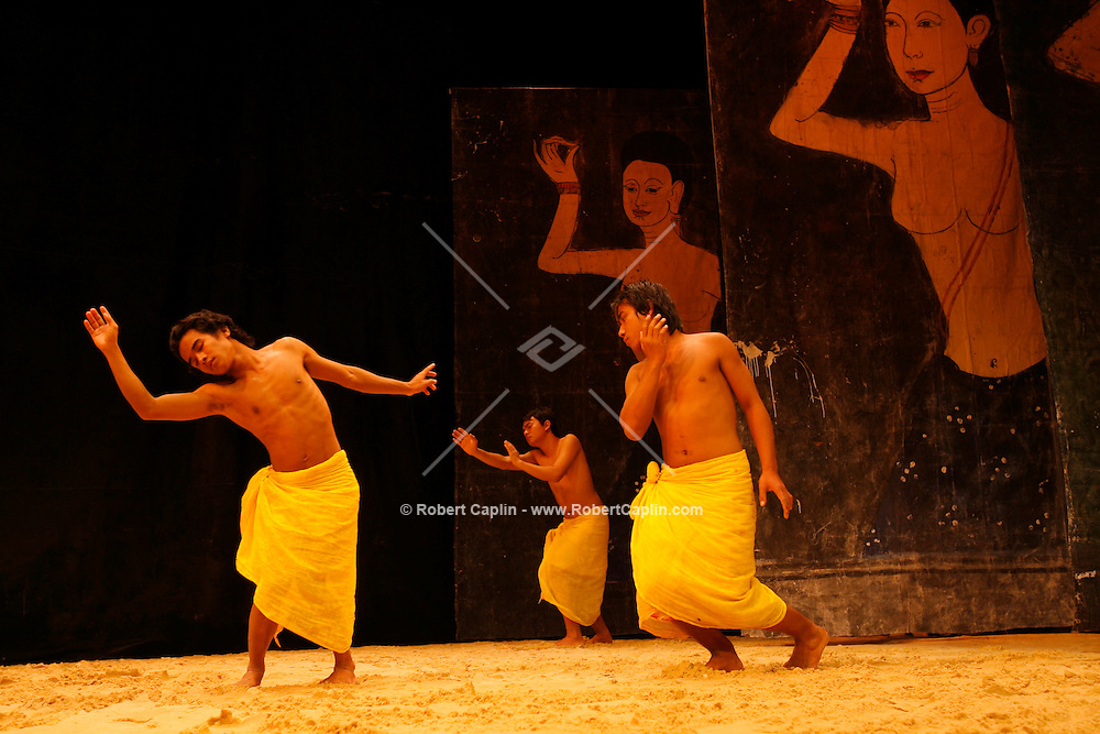 "A dress-rehersial of ""Cambodian Stories: An Offering of Painting and Dance"" is performed at the Asia Society in Manhattan. Friday, May 19, 2006. (Robert Caplin For The New York Times)..."