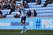 Coventry City defender Sam Ricketts (18)  during the Sky Bet League 1 match between Coventry City and Millwall at the Ricoh Arena, Coventry, England on 16 April 2016. Photo by Simon Davies.