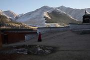 La journée se termine au monastère de Labrang/ End of the day at the Labrang monastery
