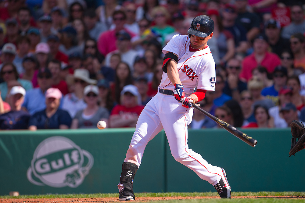 BOSTON, MA - JUNE 09: Jacoby Ellsbury #2 of the Boston Red Sox bats during the game against the Los Angeles Angels at Fenway Park in Boston, Massachusetts on June 9, 2013. (Photo by Rob Tringali) *** Local Caption *** Jacoby Ellsbury