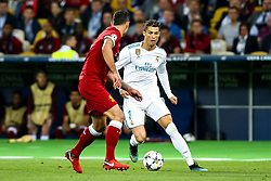 Cristiano Ronaldo of Real Madrid takes on Dejan Lovren of Liverpool - Mandatory by-line: Robbie Stephenson/JMP - 26/05/2018 - FOOTBALL - Olympic Stadium - Kiev,  - Real Madrid v Liverpool - UEFA Champions League Final