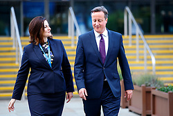 © Licensed to London News Pictures. 06/10/2015. Manchester, UK. Prime Minister David Cameron and Caroline Ansell MP attending Conservative Party Conference at Manchester Central on Tuesday, 6 October 2015. Photo credit: Tolga Akmen/LNP