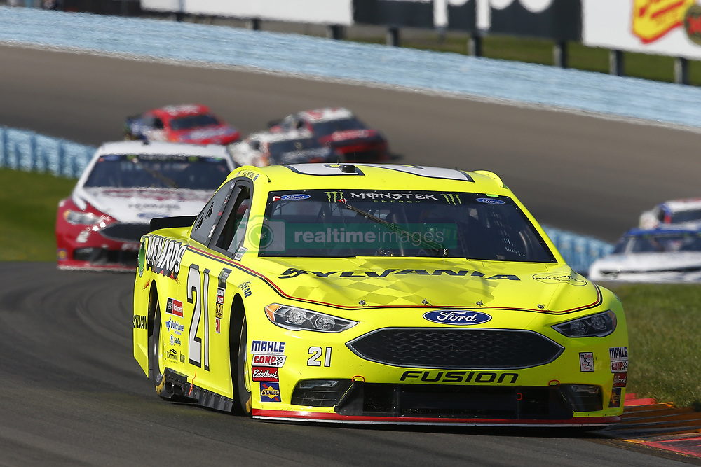 August 5, 2018 - Watkins Glen, New York, United States of America - Paul Menard (21) brings his car through the turns during the Go Bowling at The Glen at Watkins Glen International in Watkins Glen , New York. (Credit Image: © Chris Owens Asp Inc/ASP via ZUMA Wire)