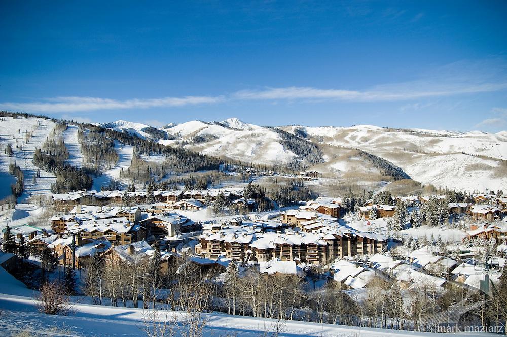 Deer Valley's Silver Lake Village in winter