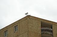 security camera on a rooftop, paris, la defense