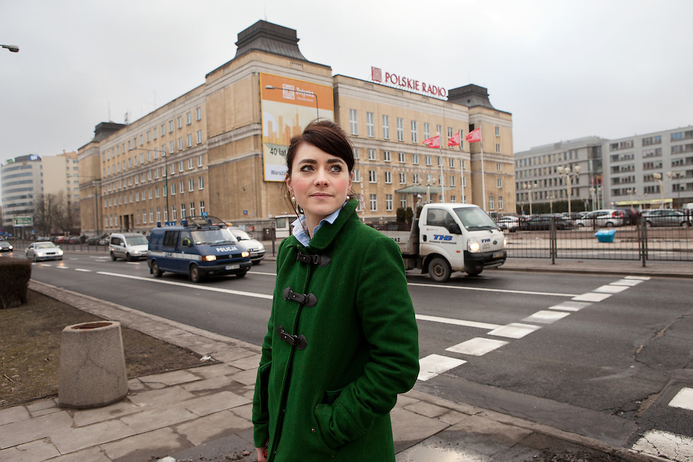 """Warsaw, Poland, February 28, 2013. Julia Wollner, Polish enterpreneur, Director of the magazine """"La Rivista"""", which aims to spread the Italian culture in Poland. Julia is  also the founder and owner of """"Il Ponte"""", association for the diffusion of Italian language and culture in Poland."""