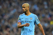 Vincent Kompany (4) of Manchester City during the Carabao Cup Final match between Chelsea and Manchester City at Wembley Stadium, London, England on 24 February 2019.