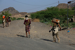 May 19, 2017 - Pro-government forces have captured three important villages on a strategic route linking the city of Taiz to the western coast of Yemen. Pro-government forces have engaged in the fighting against the Houthi forces and those loyal to former president Ali Abdullah Salih in the city of Taiz over the last two years (Credit Image: © Abdulnasser Alseddik/ImagesLive via ZUMA Wire)