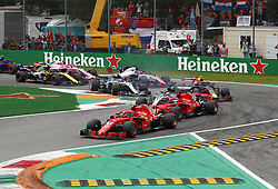 September 2, 2018 - Monza, Italy - Motorsports: FIA Formula One World Championship 2018, Grand Prix of Italy, .Start, #7 Kimi Raikkonen (FIN, Scuderia Ferrari), #5 Sebastian Vettel (GER, Scuderia Ferrari), #44 Lewis Hamilton (GBR, Mercedes AMG Petronas Motorsport) (Credit Image: © Hoch Zwei via ZUMA Wire)