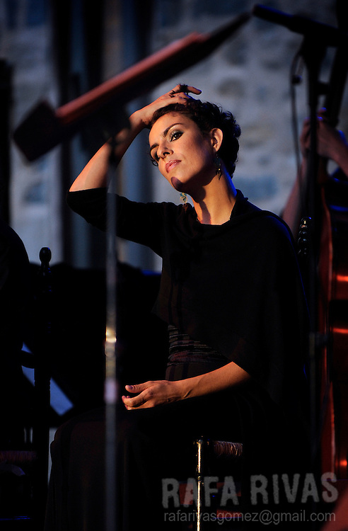 Flamenco dancer Ana salazar performs with the Perico Sambeat Flamenco Big Band, during the 44th Jazzaldia Festival, on July 24, 2009, in the northern Spanish Basque city of San Sebastian. Jazzaldia festival is the oldest jazz festival celebrated in Spain. PHOTO/Rafa Rivas