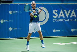 Grega Zemlja (SLO) plays against Filip Krajinovic (SRB) at 2nd Round of ATP Challenger Zavarovalnica Sava Slovenia Open 2017, on August 9, 2017 in Sports centre, Portoroz/Portorose, Slovenia. Photo by Vid Ponikvar / Sportida