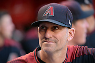 PHOENIX, AZ - APRIL 08:  Torey Lovullo #17 of the Arizona Diamondbacks looks on from the dugout prior to the MLB game against the Cleveland Indians at Chase Field on April 8, 2017 in Phoenix, Arizona. The Arizona Diamondbacks won 11-2.  (Photo by Jennifer Stewart/Getty Images)