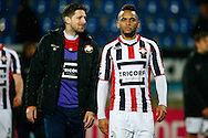 26-01-2016 VOETBAL:WILLEM II-FC GRONINGEN:TILBURG<br /> <br /> Funso Ojo van Willem II (R) en Nicky Kuiper van Willem II (L)<br /> <br /> Foto: Geert van Erven