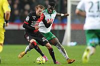 Fotball<br /> Frankrike<br /> 18.01.2015<br /> Foto: Panoramic/Digitalsport<br /> NORWAY ONLY<br /> <br /> Moustapha Bayal Sall (Saint Etienne)<br /> Ola Toivonen (Rennes)<br /> Rennes vs Saint Etienne - Ligue 1