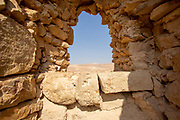 remains of the houses and streets in Masada national park, Israel