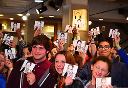 Fans during Demi Lovato signing. Former Disney star hosts meet and greet with fans and signs copies of eponymous new album, Demi.  HMV Oxford Circus, London, United Kingdom, 28th May 2013. Photo by Nils Jorgensen / i-Images.