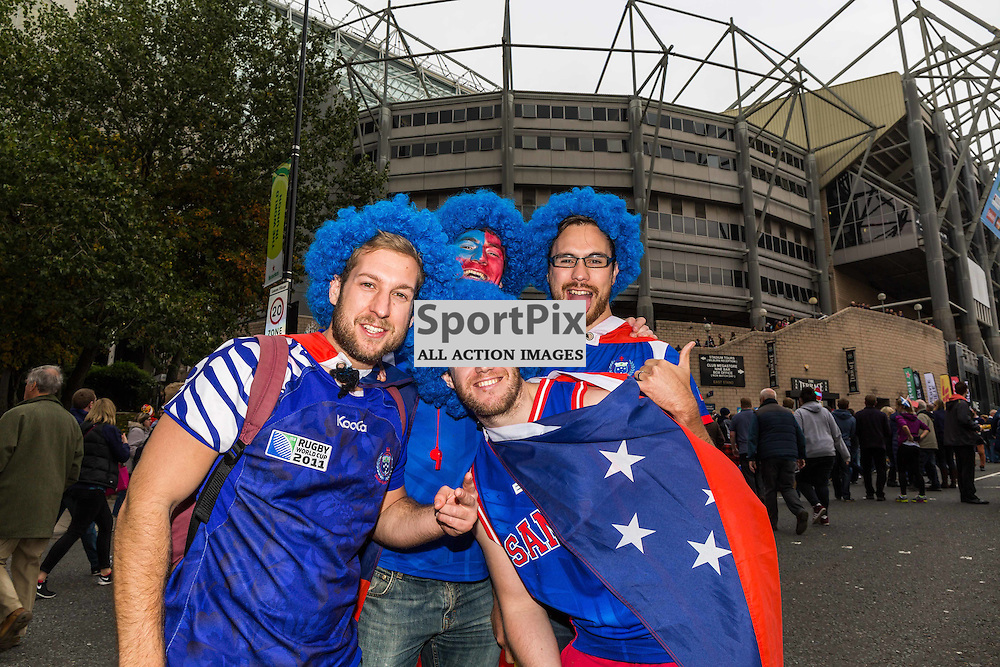 Samoan fans before the Rugby World Cup match between Scotland and Samoa (c) ROSS EAGLESHAM | Sportpix.co.uk