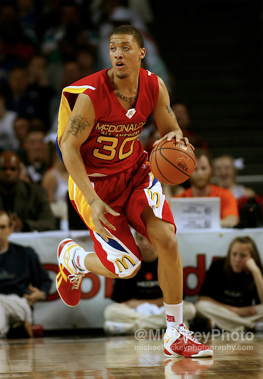 Kansas State recruit Michael Beasley seen during action in the McDonald's All American High School Basketball Team games at Freedom Hall in Louisville, Kentucky on March 28, 2007.