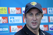 David Hussey during the Victorian Bushrangers press conference held at The Wanderers Stadium in Johannesburg on the 6th September 2010 held as part of the build up to the Champions League T20 tournament being held in South Africa between the 10th and 26th September 2010..Photo by: Ron Gaunt/SPORTZPICS/CLT20
