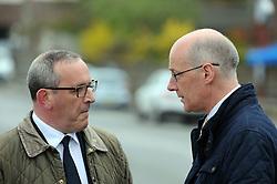 Nicola-Sturgeon, South Queensferry, 28-4-2016<br /> <br /> Stewart Hogie and John Swinney chat<br /> <br /> (c) David Wardle | Edinburgh Elite media