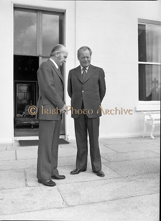 Willy Brandt (Mayor of Berlin) and President Hillary 06/07/1978