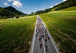 Peloton near Vransko during 3rd Stage of 26th Tour of Slovenia 2019 cycling race between Zalec and Idrija (169,8 km), on June 21, 2019 in Slovenia. Photo by Vid Ponikvar / Sportida