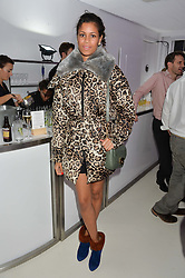 ALUNA FRANCIS at the OFFtheGRID event - a solar-powered party on a London rooftop to support our renewable energy future hosted by Dame Vivienne Westwood supported by the Trillion Fund at 151-155 New North Road, London N1 on 4th September 2014.