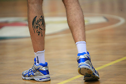 Tatoo of Alen Pajenk at last final volleyball match of 1.DOL Radenska Classic between OK ACH Volley and Salonit Anhovo, on April 21, 2009, in Arena SGS Radovljica, Slovenia. ACH Volley won the match 3:0 and became Slovenian Champion. (Photo by Vid Ponikvar / Sportida)