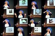 Nederland Amsterdam 11 september 2013<br /> De Balie, een gesprek met Marlene Dumas.<br /> Foto: Jan Boeve