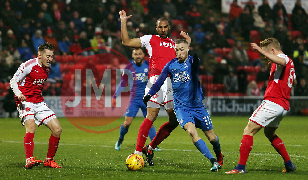 Marcus Maddison of Peterborough United dances his way through the Fleetwood Town defence - Mandatory by-line: Joe Dent/JMP - 17/12/2017 - FOOTBALL - Highbury Stadium - Fleetwood, England - Fleetwood Town v Peterborough United - Sky Bet League One