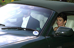 The Duke of York leaves the wedding of a former girlfriend Aurelia Cecil to Rupert Stephenson at the Parish Church of St Michael in Compton Chamberlayne near Salisbury. The Duke of York left with Ghislaine Maxwell, the daughter of the late Robert Maxwell.