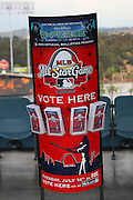 LOS ANGELES - JUNE 06:  A voting ballot display sits ready for fans to choose their favorite players for the MLB All Star Game prior to the Los Angeles Dodgers game against the Philadelphia Phillies at Dodger Stadium on Saturday, June 6, 2009 in Los Angeles, California.  The Dodgers defeated the Phillies 3-2 in 12 innings.  (Photo by Paul Spinelli/MLB Photos via Getty Images)