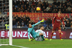 December 26, 2018 - Rome, Italy - Nicolo Zaniolo of AS Roma kicks goal 3-0 during the Italian Serie A football match between A.S. Roma and Sassuolo at the Olympic Stadium in Rome, on december 26, 2018. (Photo by Federica Roselli/NurPhoto) (Credit Image: © Federica Roselli/NurPhoto via ZUMA Press)
