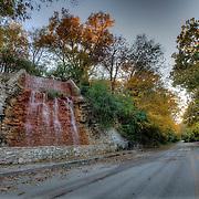 Fall foliage along Cliff Drive, Kansas City, Missouri.