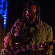 "Isaiah ""Zai"" Palmer from the Reggae band i-KRONIK performs on stage during The 19th Annual Bob Marley People's Festival Saturday July 27, 2013, at Tubman-Garrett Riverfront Park in Wilmington Delaware."
