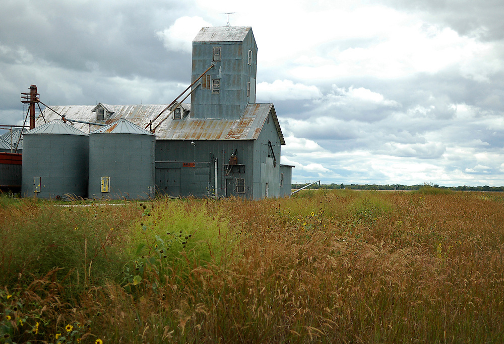 Grain elevator in Ames, Kansas as seen September 23, 2006.