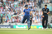 England Eoin Morgan chases runs during the Royal London One Day International match between England and New Zealand at the Oval, London, United Kingdom on 12 June 2015. Photo by Phil Duncan.
