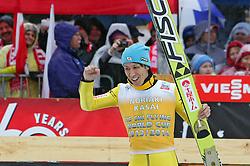 23.03.2014, Planica, Ratece, SLO, FIS Weltcup Ski Sprung, Planica, Siegerehrung, Skifliegen, Gesamtwertung, im Bild NORIAKI KASAI 2. Platz Gesamtwertung / ASAI on podium of overall mens FIS Ski flying Worldcup Cup at Planica in Ratece, Slovenia on 2014/03/23. EXPA Pictures © 2014, PhotoCredit: EXPA/ Newspix/ Katarzyna Woloszczak<br /> <br /> *****ATTENTION - for AUT, SLO, CRO, SRB, BIH, MAZ, TUR, SUI, SWE only*****