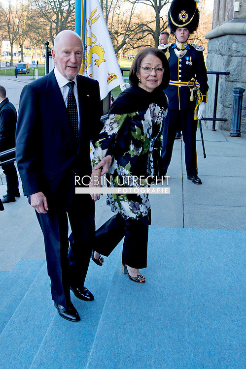 29-4-2016 STOCKHOLM -King Simeon and Queen Margarita of Bulgaria    The Royal Swedish Opera and Stockholm Concert Hall will give a concert &ndash; The Nordic Museum, Arrival of guests. celebration of The King&rsquo;s 70th birthday  King Carl Gustaf, Queen Silvia, Crown Princess Victoria, Prince Daniel, Prince Carl Philip, Princess Madeleine and Chris O&rsquo;Neill arrive at the Nordic museum for the concert by the Royal Swedish Opera and Stockholm Concert on the occasion of the 70th birthday of The Swedish King in Stockholm, Sweden, 29 April 2016 COPYRIGHT ROBIN UTRECHT<br /> 29-4-2016 STOCKHOLM - De Scandinavische Museum, Aankomst van de gasten - De Koninklijke Zweedse opera en Stockholm Concert Hall zal een concert geven. viering van The King's 70ste verjaardag van koning Carl Gustaf, Koningin Silvia, kroonprinses Victoria, Prins Daniel, prins Carl Philip, prinses Madeleine en Chris O'Neill komen op de Nordic museum voor het concert van de Koninklijke Zweedse opera en Stockholm Concert ter gelegenheid van de 70ste verjaardag van de Zweedse koning in Stockholm, Zweden, 29 april 2016 COPYRIGHT ROBIN UTRECHT