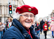 A Wales fan enjoying the pre match atmosphere<br /> <br /> Photographer Simon King/Replay Images<br /> <br /> Six Nations Round 5 - Wales v Ireland - Saturday 16th March 2019 - Principality Stadium - Cardiff<br /> <br /> World Copyright © Replay Images . All rights reserved. info@replayimages.co.uk - http://replayimages.co.uk