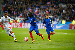 29.03.2016, Stade de France, St. Denis, FRA, Testspiel, Frankreich vs Russland, im Bild samedov alexander, kante n'golo // during the International Friendly Football Match between France and Russia at the Stade de France in St. Denis, France on 2016/03/29. EXPA Pictures © 2016, PhotoCredit: EXPA/ Pressesports/ Sebastian Boue<br /> <br /> *****ATTENTION - for AUT, SLO, CRO, SRB, BIH, MAZ, POL only*****