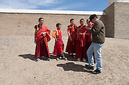 Mongolia. Children fashion , in the temple of Erdeni Zuu  Hakhorin -     Deux par Deux collection  /  Mode enfant dans le temple de Erdene Zuu  Karakorum - Mongolie   /  03