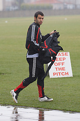 LIVERPOOL, ENGLAND - Friday, March 28, 2008: Liverpool's Javier Mascherano training at Melwood ahead of the Merseyside Derby match against Everton. (Photo by David Rawcliffe/Propaganda)
